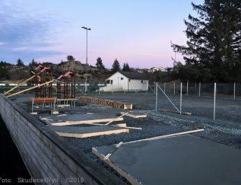 Treningsparken i Skudeneshavn tar form