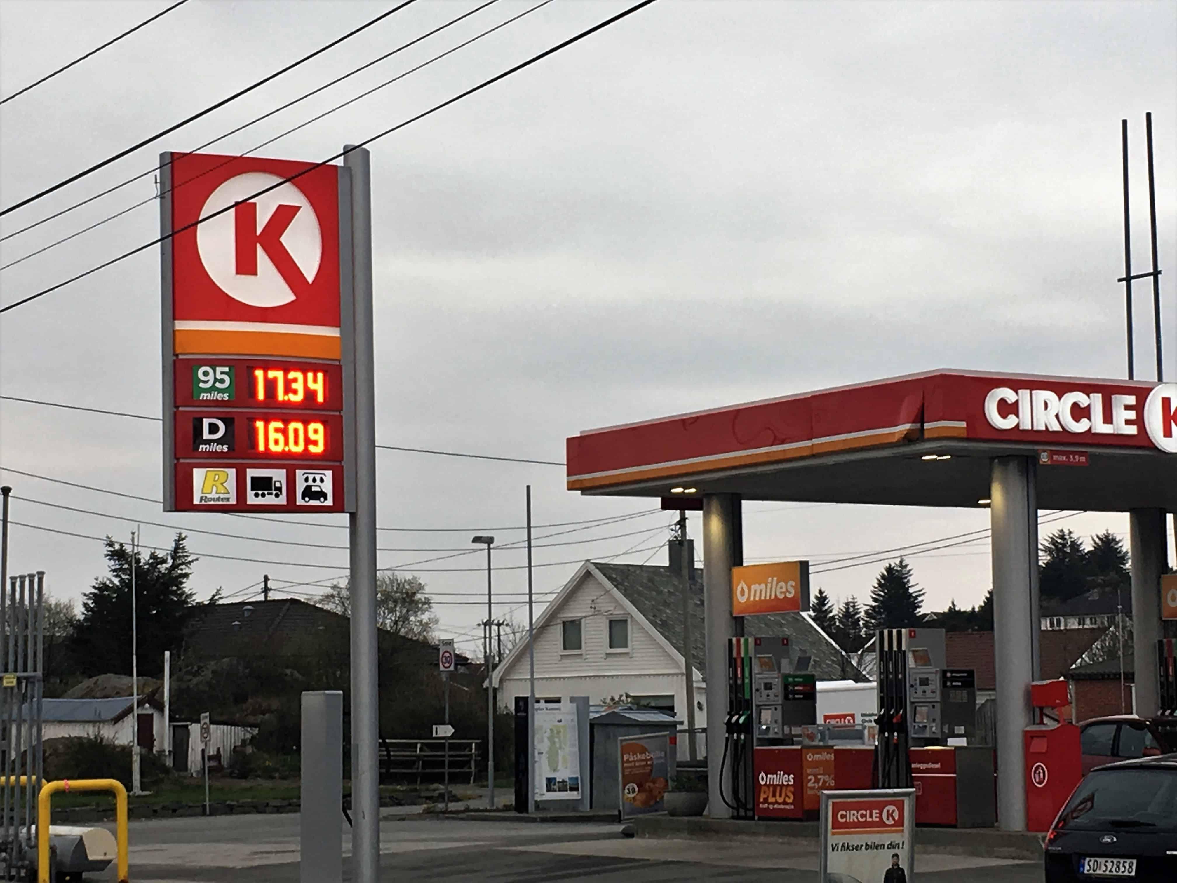 Ny rekord for bensinprisene