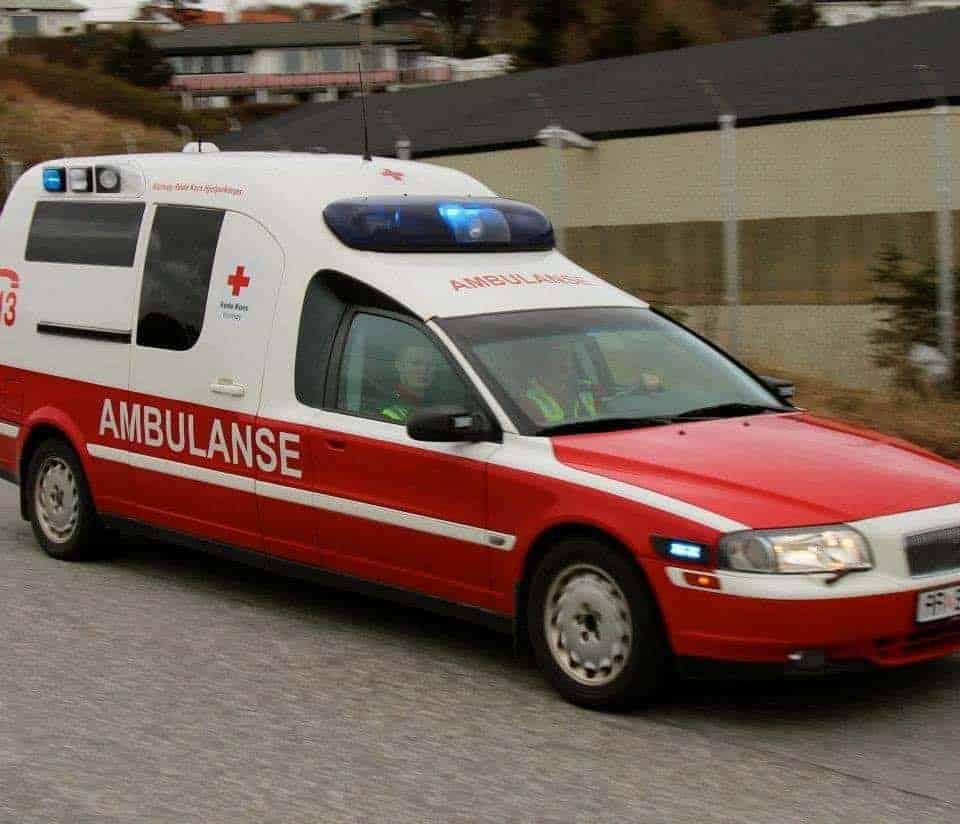 Øvelse med ambulanser fredag kveld