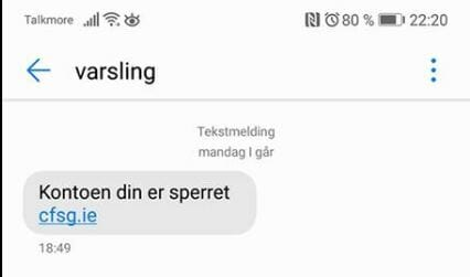 Svindel-SMS fra banken