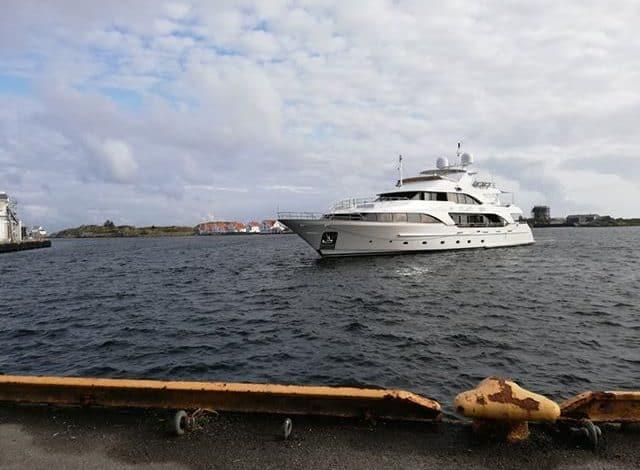 Luksusyatch på besøk i Skudeneshavn