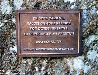 Feiret St.Hans og Fredtun 50 år med avduking
