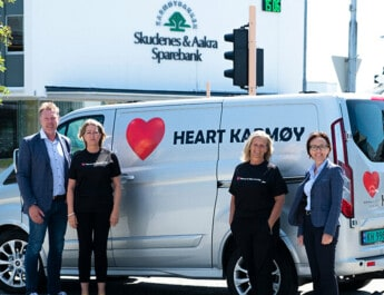 Heart fikk støtte til å kjøpe varebil